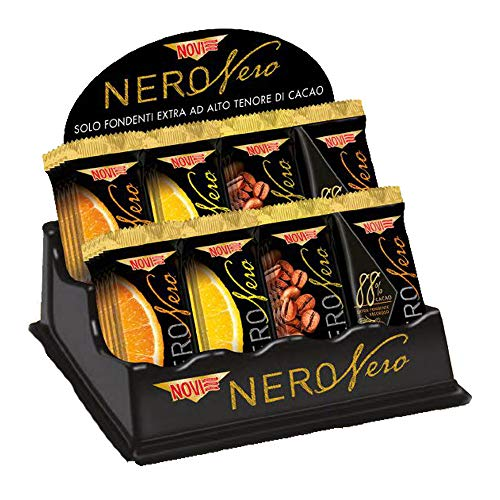 Novi Barrette Nero Nero Extra Fondente vari gusti 22 Gr - [confezione da 10] (4 GUSTI ASSORTITI)