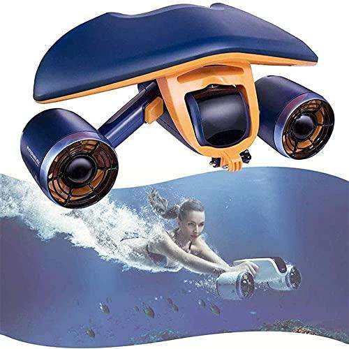 Booster Submarino, hélice de Buceo Snorkeling, Scooter portátil 40 Metros en Profundidad 40 Minutos de Tiempo de Funcionamiento, Soporte de cámara bajo el Agua, propulsor de Mano bajo el Agua BJY969