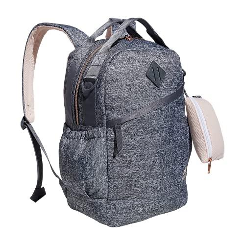 adidas Damen Squad Rucksack, Damen, Rucksack, Squad Backpack, Jersey Onix grau/pink getönt/roségold, Einheitsgröße