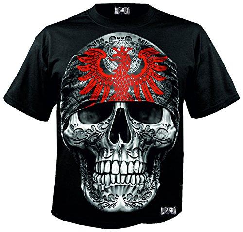 Mi Barrio Art Big Skull Frankfurt T-Shirt(fällt Größer aus !!!)(XL, schwarz)