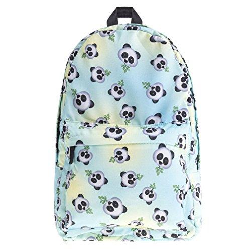 Kfnire Mode Einhorn Studenten Rucksack Kinderrucksäcke Teenager Schultasche Damen Schultertasche Reisetasche Casual Daypacks (Panda)