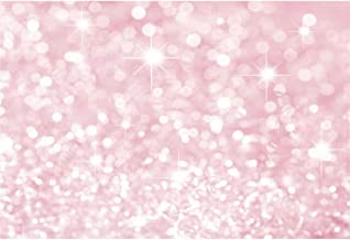 Yeele Glitter Backdrop 7x5ft Pink Dot Particles Mosaic Sparkle Bokeh Spots Sequins Pictures Photography Background Girls Lady Artistic Portrait Room Decoration Photoshoot Props Studio