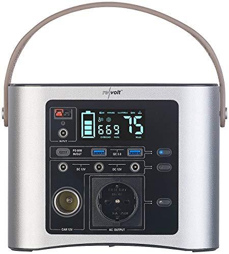 reVolt Powerpack: High-End-Powerbank & Solar-Konverter 90 Ah, 333 Wh, 230 V, 300 W (Camping Akku)