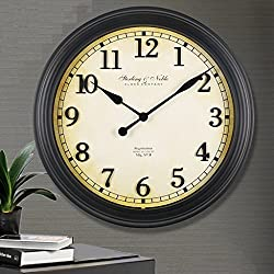 Wall Clock ChenYuJie Westclox 32213 Round Oversized Classic Clock, 16 Inches