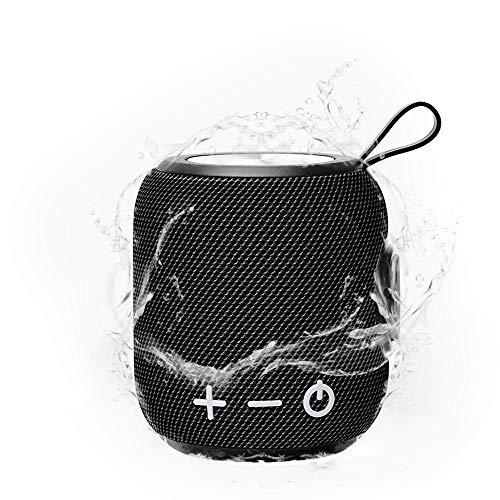 SPGOOD Bluetooth Lautsprecher M7,TIEFBASS, 360° Sound Bluetooth Speaker V5.0 mit Wireless Pairing,10 Meter Bluetooth Reichweite, intensiver Bass(Schwarz)
