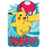 Pokemon Birthday Party Supplies 16 Pack Invitations