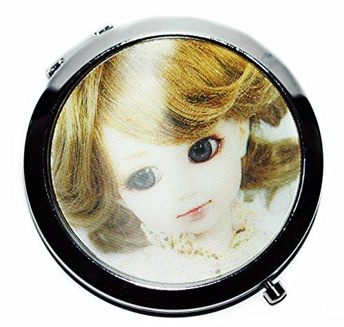 PETITPOCHE, Miroir de poche, visage de fille, 3D, double face de miroir