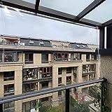 Estor Enrollable Cortina Enrollable Transparente para Balcón Exterior Patio Trasero, Persiana Enrollable de Plástico Transparente con Gancho Fijo, Corte a Prueba de Lluvia, Ancho 60-150cm