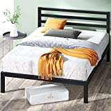 ZINUS Mia Metal Platform Bed Frame with Headboard / Wood Slat Support / No Box Spring Needed / Easy Assembly, Full