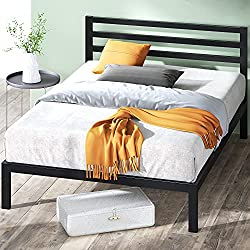 Review For Linenspa 14 Inch Folding Metal Platform Bed Frame 13 Inches Of Clearance Tons Of Under Bed Storage Heavy Duty Construction 5 Minute Assembly Queen