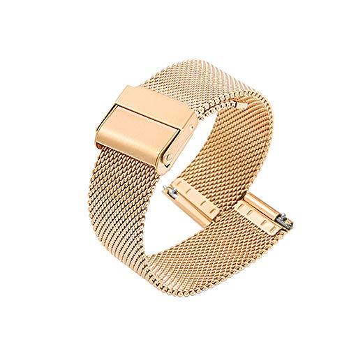 Correa De Reloj Correa De Reloj De Repuesto De Malla De Acero Inoxidable Ajustable Transpirable E Impermeable Cierre Rápido,Gold-20mm