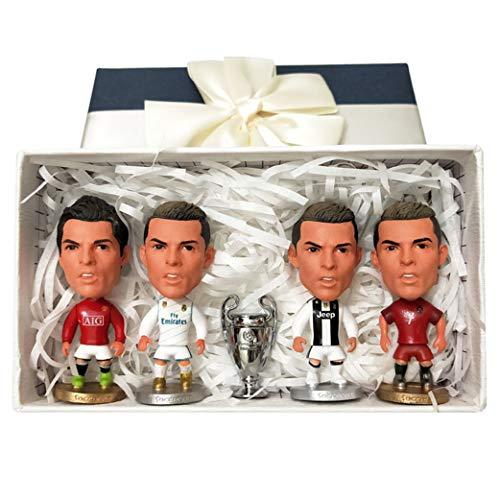 Cradifisho – Fußballspieler, Fan des Real Madrid, Ronaldo, Exquis Modell, Champion-League Puppe, Modell zum Geburtstag, (4+1)