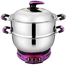Pot Chauffant Électrique Cuisinière Électrique Multifonctionnelle pour La Maison Wok Électrique en Acier Inoxydable Pot Él...