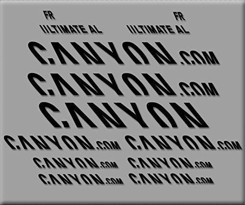Ecoshirt J0-NU2V-N1P2 Sticker Canyon Ultimate R291 Vinyl Sticker Decal Sticker MTB Fiets zwart