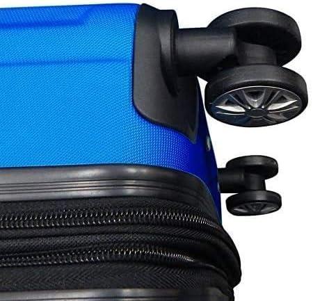 ABS Valise de Voyage Extensible en Cabine Petite Valise Extensible Chariot /à Bagages /à Main Roues Doubles Ultra l/ég/ères 4 pivotantes silencieuses Valise /à Main 2,8 kg