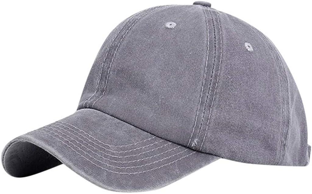 YOCheerful Ponytail Messy Buns Trucker High Horsetail Hole Plain Baseball Visor Cap Metal Adjusting Buckle Unisex Hat
