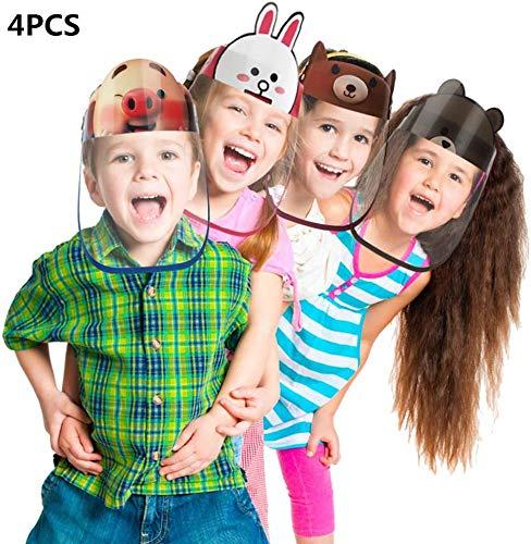 4 Pezzi Visiera Parasole Completa Per Bambini, Con Pellicola Protettiva Trasparente, Fascia Elastica E Comoda Spugna, Protezione Completa Per Bambini (4 Pezzi)
