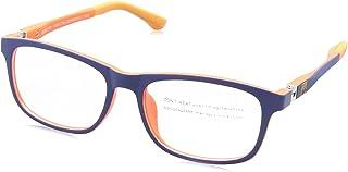 Sponge Bob Rectangular Lens Contrasting Plastic Medical Glasses for Kids - Blue & Orange