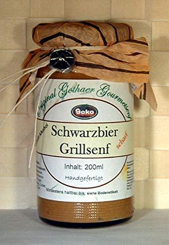 Gourmet Senf - Schwarzbier Grillsenf 200ml = 210g