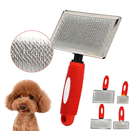 Bvnivcxzem Dog Brush Dog Grooming Brush Dog Grooming Tools Back Combing Brushes Moulting Dog Brush Cat Flea Comb Dog Brush for Grooming Large Dog Massage Brush red,m