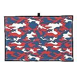 TDynasty Red Camouflage Golf Towel Microfiber...