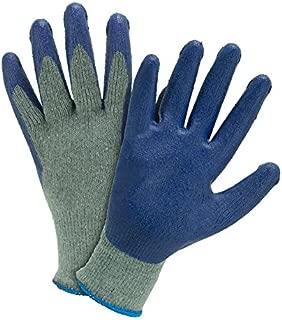 Blue Hawk 8-Pack Large Unisex Poly/Cotton Latex-Coated Multipurpose Gloves