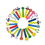 BETOY 40pcs Animal Marcadores con regla de madera, Marcapáginas de Madera de Dibujos Animados de Doble Uso para Estudiantes Oficina Papelería Niños,perfecto como regalo para cumpleaños infantil