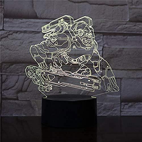 3D-Lampe für Kinder Schlafzimmer OW Held Gorilla Winston Figur Nachtlicht Geschenk Kind Arbeitszimmer Dekoration LED Nachtlicht Overwatch A-1914