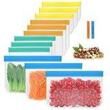 Sacchetti riutilizzabili per la conservazione degli alimenti, Borsa per congelatore degradabile a tenuta stagna extra spessa, per pranzo a chiusura lampo per alimenti per bambini, 3 tipi (12 pezzi)
