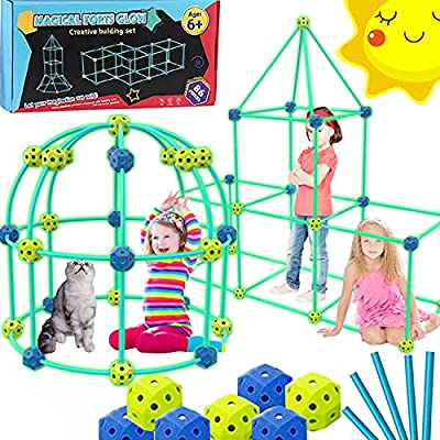 Amazon - 70% Off on Fort Building Kit for Kids, Air Fort Building Toy Sets – Indoor Outdoor