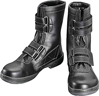 [シモン] 安全靴 長編上 JIS規格 耐滑 快適 スタンダード マジック SS38黒