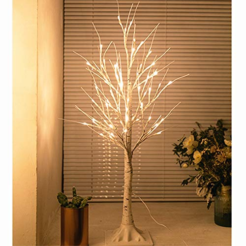Warm White Light Plastic Sequins Twig Branch Birch Trees Lights for Home Party Holiday Decoration