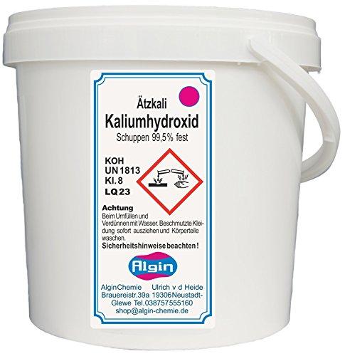 Algin Ätzkali - Kaliumhydroxid - 5 kg Eimer- Potassium Hydroxide - Seifenherstellung