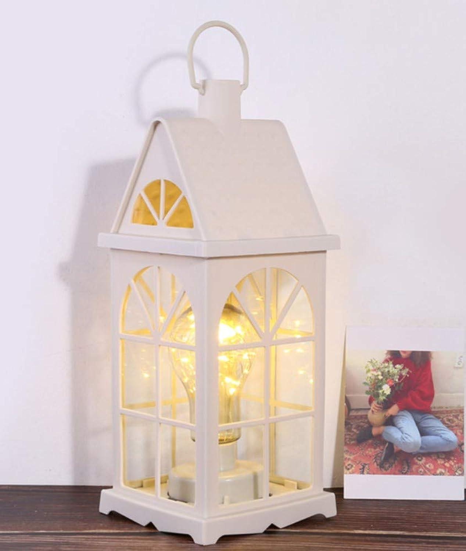 LIUJINHAI Winddichte Lampe des europischen dekorativen Leuchterschmiedeeisens Glas Kerze Tischlampe Hausgarten Hochzeitsdekorationslampe