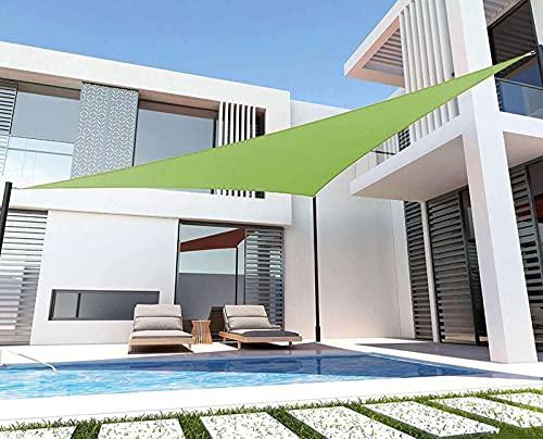 QDY -Vela De Sombra para El Sol Al Aire Libre con Kit De Fijación, Vela De Jardín De Bloque UV del 98%, Toldo De Tela Triangular De 160 G / M2 para Fiestas En El Patio,Verde,3x4x5m