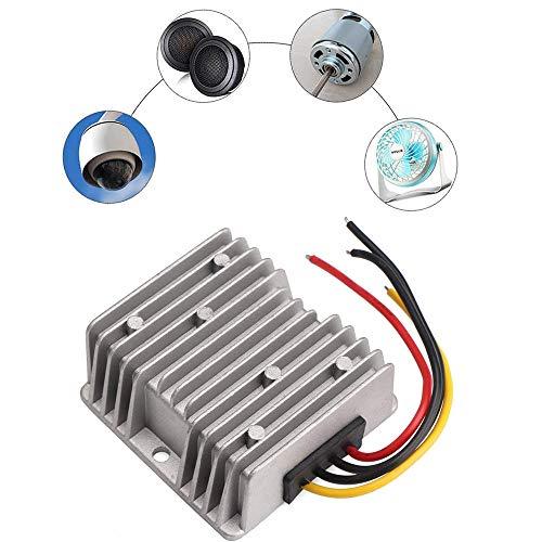 ZHITING Regulador de convertidor de Paso de 12v a 24v Adaptador de Fuente de alimentación de 5A 120W para el Sistema Solar del vehículo del camión del automóvil Motor