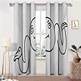 Window Curtain Panel Humor Full Light Blocking Drapery Panels Whatever Guy Meme Confusion Gesture Label Creative Drawing Rage Makers Design for Living Room 2 Grommet Top Curtain Panels, 27'W x 45'L