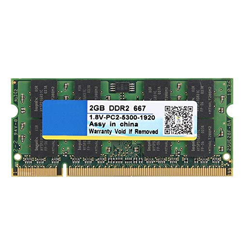 Tosuny Memoria para computadora portátil de 2GB, DDR2 667MHz 2GB 200Pin PC2-5300 Memoria para computadora portátil RAM para...
