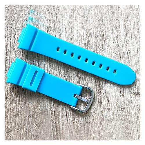 ZRNG Reloj Accesorios Ajuste Adecuado para Casio Baby-G Series BA-110/111/112 / BGA-130 Silicona de Mujer Correa de Silicona 14 mm Hebilla de Pin (Band Color : Pine Orchid, Band Width : 14mm)