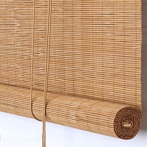 Koovin Persianas enrollables de bambú-Protector Solar Impermeable a Prueba de Humedad,para Ventanas/Exterior/Interior 4 Colores, tamaño Personalizable