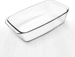 Simax Clear Rectangular Glass Roaster | Heat, Cold and Shock-Proof Borosilicate Glass, Made in Europe, Dishwasher Safe, 2....
