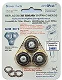 newSPeak Cabezales de afeitado compatibles con los modelos SH98 y SH71 de Philips, repuesto alternativo, compatible con las afeitadoras Philips S9000 Prestige SP9xx S5000 S7000 con soporte angular