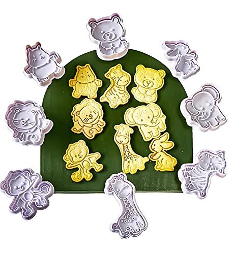 GS 8 Pack Ausstechformen, Cookie Backen Form, Cookies Cutter, Handpresse Keksstempel,Keksausstecher Osterausstecher Plätzchenform, Tiere Ausstecher Weihnachten Set