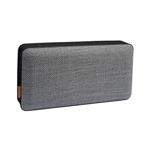 SACKit MOVEit X – Altoparlante Bluetooth con autonomia fino a 12 ore e funzione di ricarica – Cassa musicale con design intercambiabile – Altoparlante wireless per casa e viaggio – Grigio