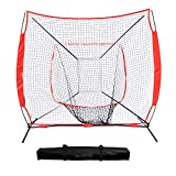 DRM 7x7 Feet Portable Baseball Softball Hitting Pitching Batting Practice Net with Stand, Great for All Skill Levels