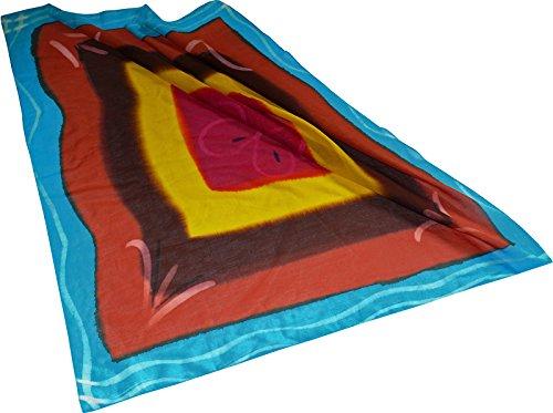 Harrys-Collection Damen Herren Baumwolltuch in vielen Farben 100 x 100 cm, Größen:Einheitsgröße, Farben:Blume