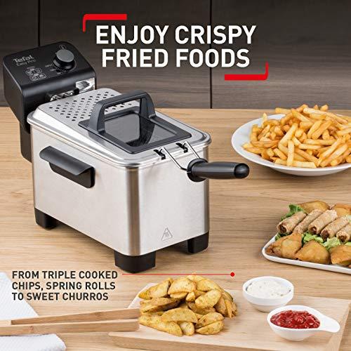 Tefal FR333040 Easy Pro Deep Fryer, (5 Portions), 1.2 Kg Capacity, 2100 W, Stainless Steel
