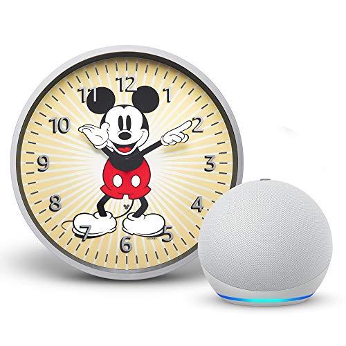 【セット買い】 Echo Dot 第4世代 (グレーシャーホワイト) + Echo Wall Clock - Disney ミッキーマウス エディション