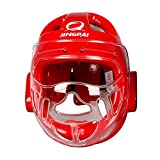 KZY Taekwondo Casco Protector Gear, Color Rojo, tamaño Large