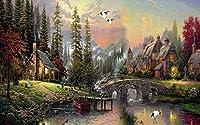 壁の壁画 壁紙 ウォールカバー 田舎の油絵の風景 壁画 壁紙 ベッドルーム リビングルーム ソファ テレビ 背景 壁 壁面装飾のための,350x250cm